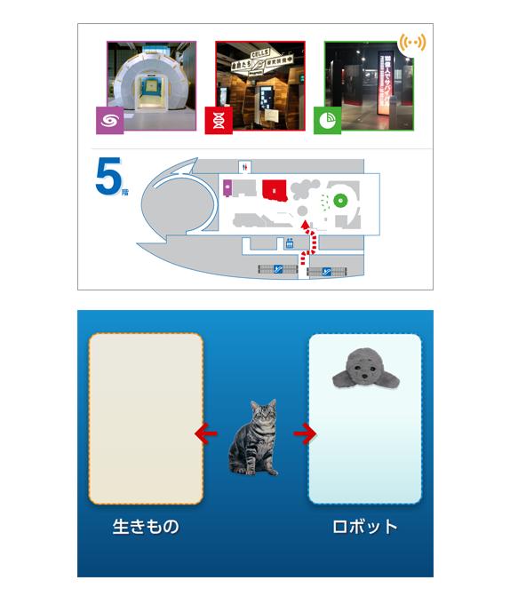 日本科学未来館「ウェルカム!ナビ」の参考画像